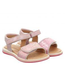 Schuhengel, Rot, Nubukleder-Sandale in rosé für Mädchen