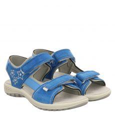 Schuhengel, Angel, Veloursleder-Sandale in blau für Mädchen