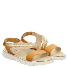 Primigi, Origami, Glattleder-Sandale in braun für Mädchen