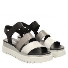 Gabor Glattleder-Sandalette in silber für Damen