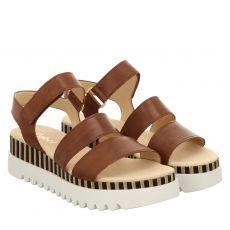 Gabor Glattleder-Sandalette in braun für Damen