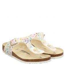 Birkenstock, Gizehkidsmfconfettiwhitep, Kunstleder-Pantolette in weiß für Mädchen