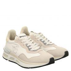 Blauer Sneaker in weiß für Damen