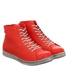 Andrea Conti kurzer Glattleder-Stiefel in rot für Damen