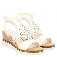 Bugatti, Esra Evo, Kunstleder-Sandalette in weiß für Damen
