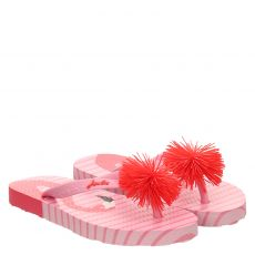 Joules, Rot, Gummi (synth.)-Pantolette in rosé für Mädchen