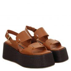 Roberto Festa Glattleder-Sandalette in braun für Damen