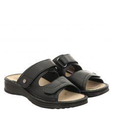 Mubb Glattleder-Fußbettschuh in schwarz für Damen