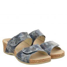 Mubb Glattleder-Pantolette in blau für Damen