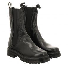 Schuhengel, Doble, kurzer Glattleder-Stiefel in schwarz für Damen
