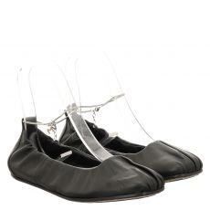Vic Matié Glattleder-Ballerina in schwarz für Damen