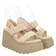 Vic Matié Glattleder-Sandalette in beige für Damen
