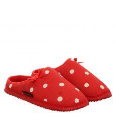 Giesswein, Plein, Textil-Hausschuh in rot für Damen