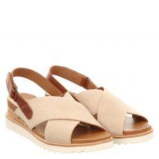 Ara, Valencia, Veloursleder-Sandalette in beige für Damen