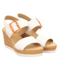 Gabor Glattleder-Sandalette in weiß für Damen