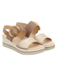 Gabor Veloursleder-Sandalette in beige für Damen