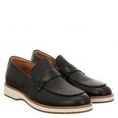 Digel, Solar, eleganter Glattleder-Slipper in schwarz für Herren