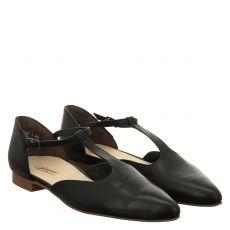 Paul Green Glattleder-Ballerina in schwarz für Damen