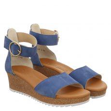 Paul Green Nubukleder-Sandalette in blau für Damen