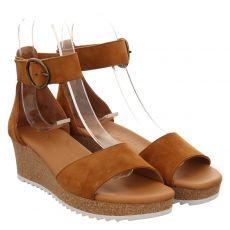 Paul Green Veloursleder-Sandalette in braun für Damen