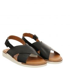 Paul Green Glattleder-Sandalette in schwarz für Damen