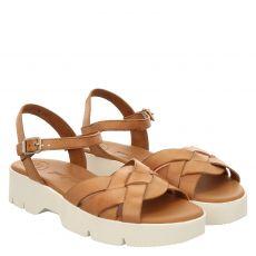 Paul Green Glattleder-Sandalette in braun für Damen