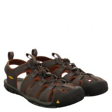 Keen, Clearwater, Textil-Sandale in grau für Herren