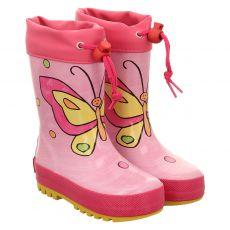 Maximo, Rot, Regenstiefel in pink für Mädchen
