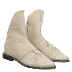 Papucei kurzer Glattleder-Stiefel in beige für Damen