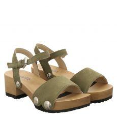 Softclox, Penny, Veloursleder-Sandalette in grün für Damen