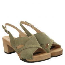 Softclox, Runa, Veloursleder-Sandalette in grün für Damen