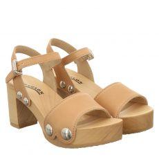 Softclox, Eilyn, Glattleder-Sandalette in beige für Damen