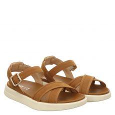 Geox, Xand, Veloursleder-Sandalette in braun für Damen