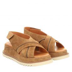 Pedro Miralles Veloursleder-Sandalette in braun für Damen
