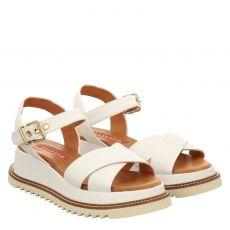 Pedro Miralles Glattleder-Sandalette in weiß für Damen