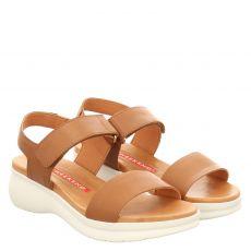 Pedro Miralles Glattleder-Sandalette in braun für Damen