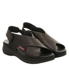 Pedro Miralles Glattleder-Sandalette in schwarz für Damen