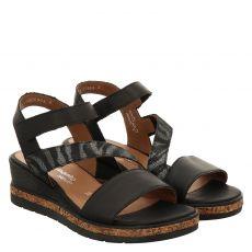 Remonte Glattleder-Sandalette in schwarz für Damen