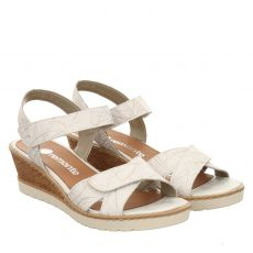 Remonte Glattleder-Sandalette in weiß für Damen