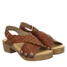 Rieker Glattleder-Sandalette in braun für Damen