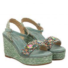 Alma En Pena Veloursleder-Sandalette in grün für Damen