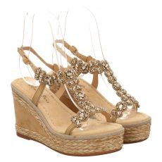 Alma En Pena Sonstige-Sandalette in beige für Damen