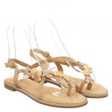Alma En Pena Veloursleder-Sandalette in beige für Damen