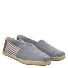 Toms, Alpargarta Rope, sportiver Textil-Slipper in blau für Herren