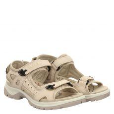 Ecco, Outdoor, Nubukleder-Sandalette in beige für Damen