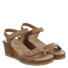 Panama Jack Glattleder-Sandalette in braun für Damen