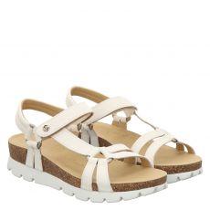 Panama Jack Glattleder-Sandalette in weiß für Damen