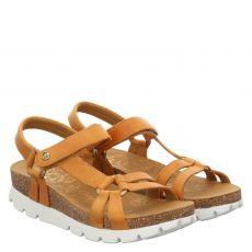 Panama Jack Glattleder-Sandalette in gelb für Damen
