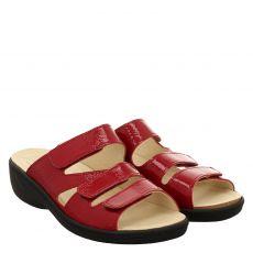 Belvida Knautschlack-Pantolette in rot für Damen