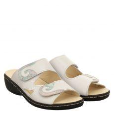 Belvida, Beige, Glattleder-Pantolette in weiß für Damen